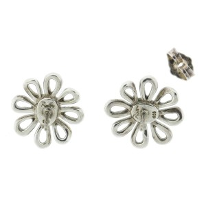Tiffany Co Paloma Pico 18k Yellow Gold And Sterling Silver Daisy Earrings
