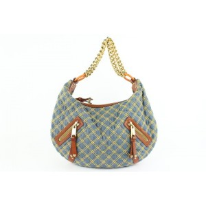 Marc Jacobs Quilted Denim Chain Hobo 18mjz0928