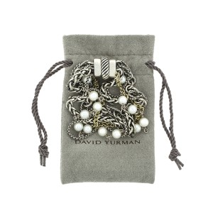 David Yurman Multi Chain Pearl Bracelet