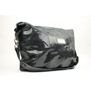 Mario Valentino Embossed Quilted Vaty03 Black Shoulder Bag