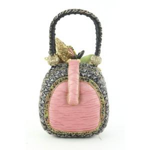 Mary Frances Beaded Sequin Top Handle Egg Bag 74mf426