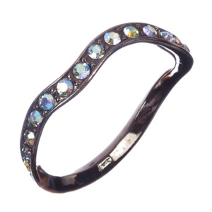 Yves Saint Laurent Aurora Borealis Rhinestone Bangle