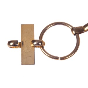 Yves Saint Laurent Metal Circular Chain Necklace Belt