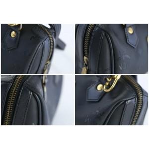 MCM 2way Boston 20mcz0815 Black Nylon Cross Body Bag