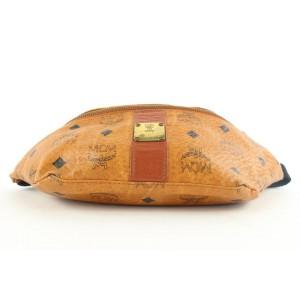 MCM Cognac Monogram Visetos Belt Bag Fanny Pack Waist Pouch 1mcm39lm