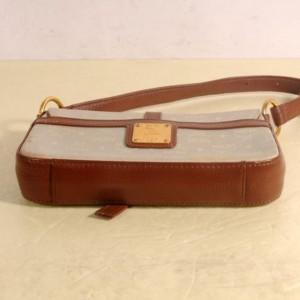 MCM Bicolor 869442 Brown Canvas Shoulder Bag