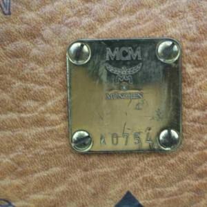 MCM  Cognac Logo Monogram Visetos Boston 860676