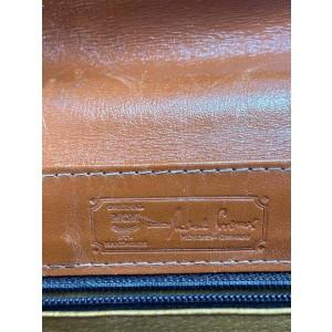 MCM Cognac Mini Satchel with Strap Monogram Kelly Top Handle 7ma516 Brown Coated Canvas Cross Body Bag