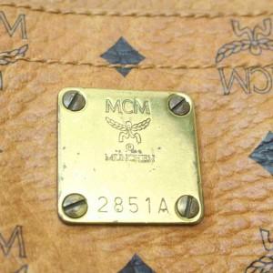 MCM  Cognac Monogram Visetos Tote 860993W
