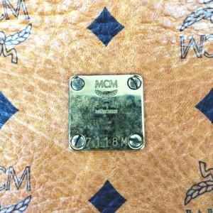 MCM Cognac Monogram Visetos Boston 860544