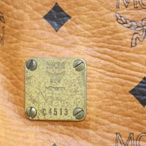 MCM Cognac Monogram Visetos Boston 861498