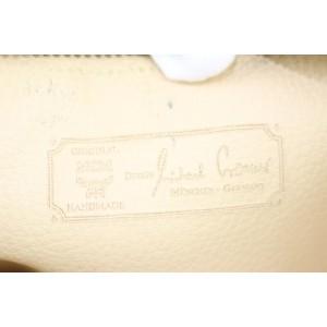 MCM Cognac Monogram Visetos Zip Pouch 11mcz0114 Brown Coated Canvas Wristlet