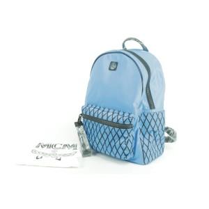 MCM Davis Limonta Tumbler Rombi 19mk1230 Blue Nylon Backpack