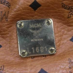 MCM Cognac Monogram Visetos Boston Duffle with Strap 858947