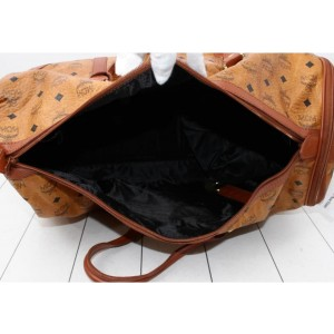 MCM Cognac Monogram Visetos Golf Duffle Bag 861913