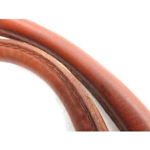 MCM Duffle Monogram Visetos Boston 230826 Brown Coated Canvas Satchel