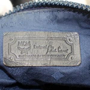 MCM White Monogram Visetos Boston Duffle with Strap 868015