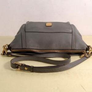 Mcm Hobo 868508 Grey Leather Shoulder Bag