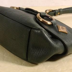 MCM Hobo 869871 Green Leather Shoulder Bag