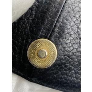 MCM Black Leather Hobo Flap 2MCM918
