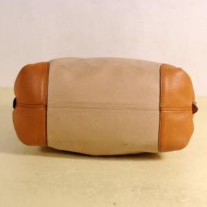 MCM Beige x Brown Bicolor Leather Hobo 859887