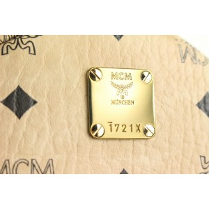 MCM Light Beige Monogram Visetos Side Stud Mini Stark 76mcm426