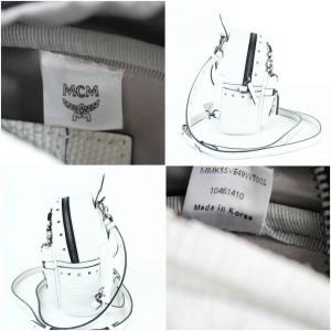 MCM Mini Swarovski Special 829mct15 White Leather Backpack