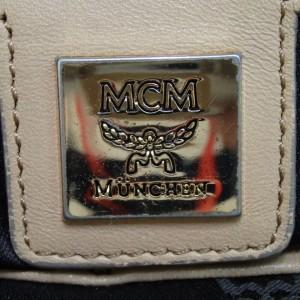 MCM Beige Monogam Visetos Liz Tote 860024