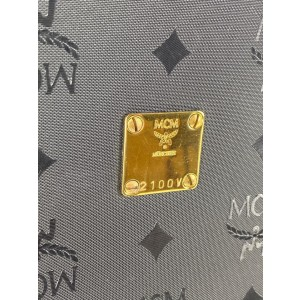 MCM Monogram Visetos 11mcm61 Black Nylon Tote