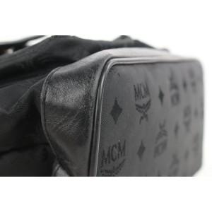 MCM Black Monogram Visetos Nylon Backpack 14mcm112