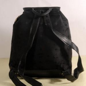 Mcm Monogram Visetos 869657 Black Nylon Backpack