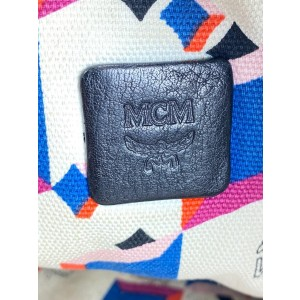MCM Blue Monogram Visetos Liz Tote Bag 4MCM0