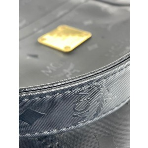 MCM Monogram Visetos Shopper 19mcm624 Black Nylon Tote