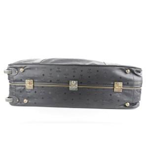 MCM Black Monogram Visetos Suitcase Luggage 402mcm226