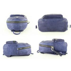 MCM Purple-blue Lush Tumbler 11mcz1113 Blue-purple Leather Backpack
