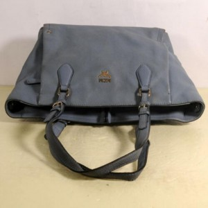 MCM Shopper 869885 Grey Leather Tote