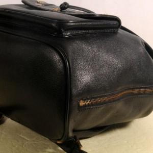 MCM Studded 869870 Black Leather Backpack