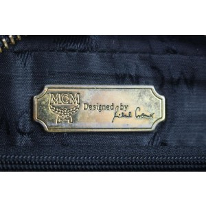MCM Studded Camera Chain 15mce0108 Black Leather Cross Body Bag