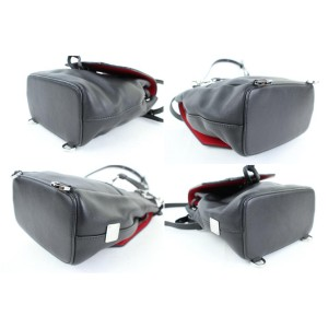 MCM Studded Diamond Disco Mini 2m915c Black Leather Backpack