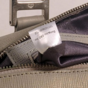 Mcm Studded Saffiano Boston 868498 Grey Leather Tote