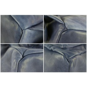 MCM Tumbler 16mcz0130 Blue Leather Backpack