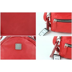 MCM Tumbler Tbmc1 Red Leather Backpack
