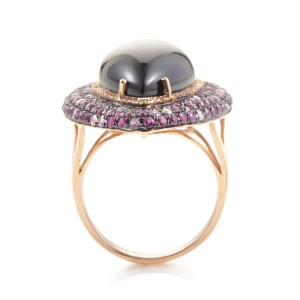 18K Rose Gold Diamond & Gemstone Cocktail Ring