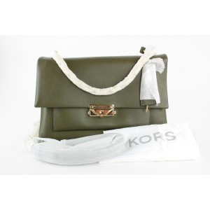 Michael Kors Green Leather Cece Medium Leather Shoulder Bag 28MK1215