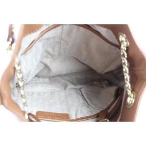 Michael Kors 2way Chain 11mke0108 Brown Leather Tote