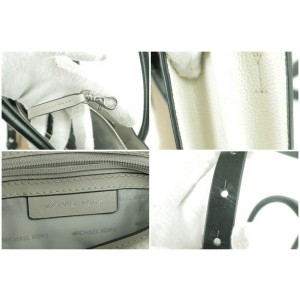 Michael Kors 2way Leather Tote With Strap Brown White Black 11MK0102