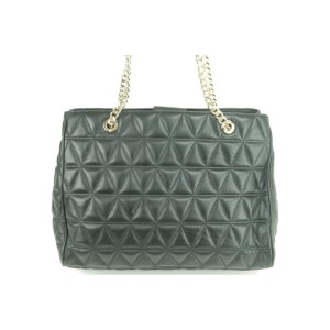Michael Kors Quilted Sussanah Chain 15mk0102 Black Leather Tote