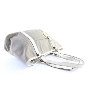 Michael Kors Shopper Tote 5mr0327 Beige X White Canvas Shoulder Bag