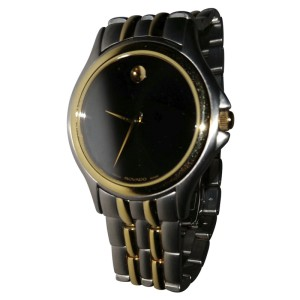 Movado 81-E4-0863 Stainless Steel & Yellow Gold 37mm Watch