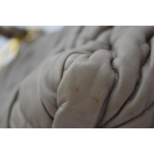 Miu Miu 866513 Leather Beige/Mauve Quilted 2way Tote